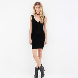 Body-con V-neck Little Black Dress